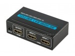 2 PORT HDMI Switch Switcher 2x1 Selector IR Remote 1080p 3D