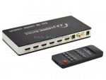 1.4v 4Kx2K HDMI 4x2 Matrix IR Remote with Audio SPDIF optical 2RCA Extractor MHL Supported